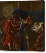 The Death Of Germanicus Canvas Print by Nicolas Poussin