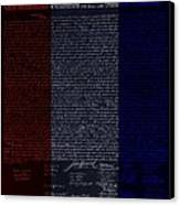 The Declaration Of Independence In Negative R W B Canvas Print by Rob Hans