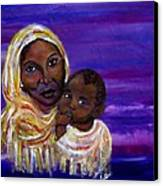 The Devotion Of A Mother's Love Canvas Print by The Art With A Heart By Charlotte Phillips