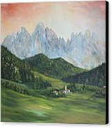 The Dolomites Italy Canvas Print by Jean Walker