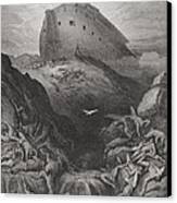 The Dove Sent Forth From The Ark Canvas Print by Gustave Dore