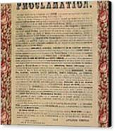 The Emancipation Proclamation Canvas Print by American School