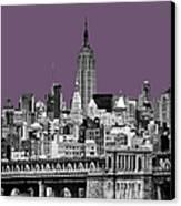The Empire State Building Plum Canvas Print by John Farnan