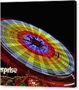 The Enterprise Amusement Park Ride Canvas Print by Deb Fruscella