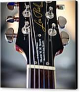 The Epiphone Les Paul Guitar Canvas Print by David Patterson
