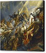 The Fall Of Phaeton Canvas Print by  Peter Paul Rubens