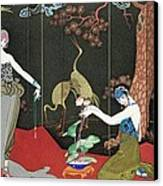 The Fashion For Lacquer Canvas Print by Georges Barbier