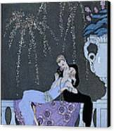 The Fire Canvas Print by Georges Barbier