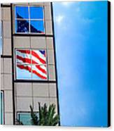 The Flag That Never Hides Canvas Print by Rene Triay Photography