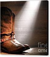 The Found Boots Canvas Print by Olivier Le Queinec