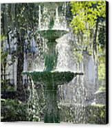 The Fountain Canvas Print by Mike McGlothlen