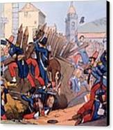 The French Legion Storming A Carlist Canvas Print by English School