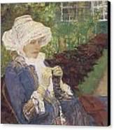 The Garden Canvas Print by Mary Cassatt