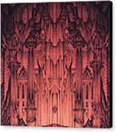 The Gates Of Barad Dur Canvas Print by Curtiss Shaffer