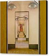 The Girl With Far Away Eyes Canvas Print by Bill Gallagher