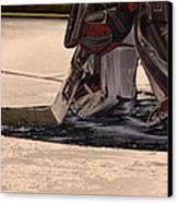 The Goalies Crease Canvas Print by Karol Livote