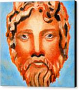 The God Jupiter Or Zeus.  Canvas Print by Augusta Stylianou