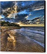 the golden hour during sunset at Israel Canvas Print by Ronsho