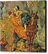The Good Samaritan After Delacroix 1890 Canvas Print by Vincent Van Gogh