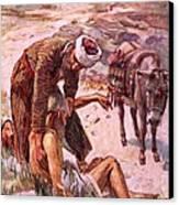 The Good Samaritan Canvas Print by Harold Copping
