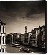 The Grand Canal Canvas Print by Aaron S Bedell