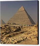 The Great Pyramids Of Giza Egypt  Canvas Print by Ivan Pendjakov