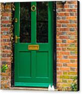 The Green Door Canvas Print by Mark Llewellyn