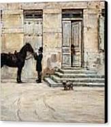 The Groom  Canvas Print by Giuseppe De Nittis