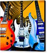 The Guitars Of Jimmy Dence - The Kingpins Canvas Print by David Patterson