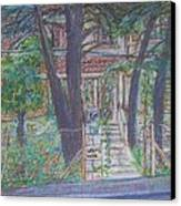 The Haunted House In Talpiot Jerusalem Canvas Print by Esther Newman-Cohen