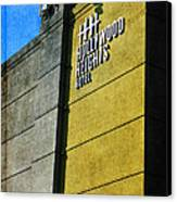 The Hollywood Heights Hotel Canvas Print by Janice Rae Pariza