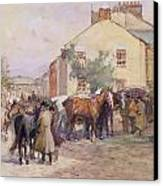 The Horse Fair  Canvas Print by John Atkinson
