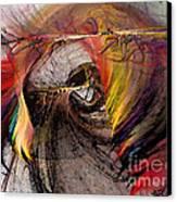 The Huntress-abstract Art Canvas Print by Karin Kuhlmann