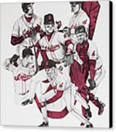 The Indians' Glory Years-late 90's Canvas Print by Joe Lisowski