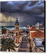 the Jaffa old clock tower Canvas Print by Ronsho