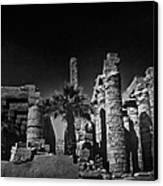 The Karnak Temple Bw Canvas Print by Erik Brede