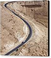The King's Highway At Wadi Mujib Jordan Canvas Print by Robert Preston