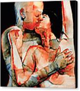 The Kiss Canvas Print by Graham Dean