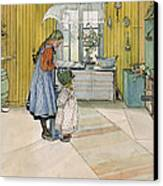 The Kitchen From A Home Series Canvas Print by Carl Larsson