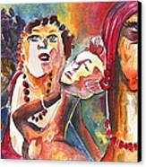 The Ladies Of Loket In The Czech Republic Canvas Print by Miki De Goodaboom