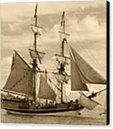 The Lady Washington Ship Canvas Print by Kym Backland