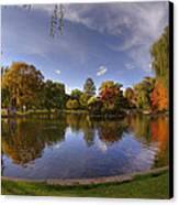 The Lagoon - Boston Public Garden Canvas Print by Joann Vitali