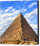 The Last Ancient Wonder - Egyptian Pyramid Canvas Print by Mark E Tisdale