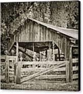 The Last Barn Canvas Print by Joan Carroll
