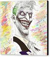 The Laughing Man Canvas Print by Wave