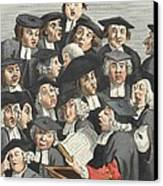 The Lecture, Illustration From Hogarth Canvas Print by William Hogarth