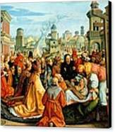 The Legend Of The Holy Cross Canvas Print by Barthel Beham