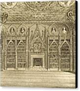 The Library, Engraved By Godfrey Canvas Print by English School