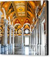 The Library Canvas Print by Greg Fortier