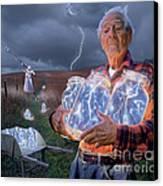 The Lightning Catchers Canvas Print by Bryan Allen